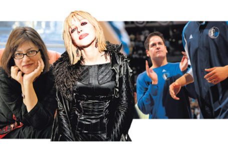 SELECT COMPANY Alice Hoffman, left, Courtney Love and Mark Cuban. CreditFrom left: C.J. Gunther for The New York Times; Amy Sussman/Getty Images; Doug Pensinger/Getty Images.