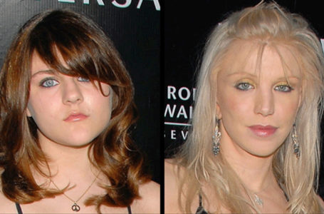 Frances Bean Cobain, left, and Courtney Love (Getty Images)