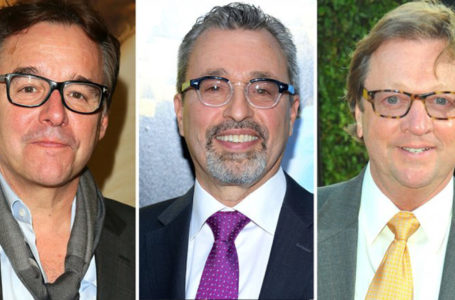 Chris Columbus, Michael Barnathan and Mark Radcliffe (JB Lacroix/Getty Images; Grant Lamos IV/Getty Images; Alberto E. Rodriguez/Getty Images)