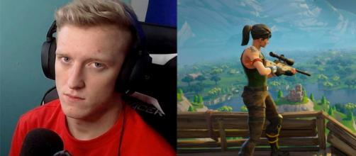 photo: 'Tfue's contract was illegal, according to his lawyer.'   (Credit - (1) Tfue's Twitch (1) Epic Games promotional material)