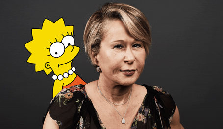 Yeardley Smith & Lisa Simpson (Photo Illustration by Kelly Caminero/The Daily Beast/Getty)
