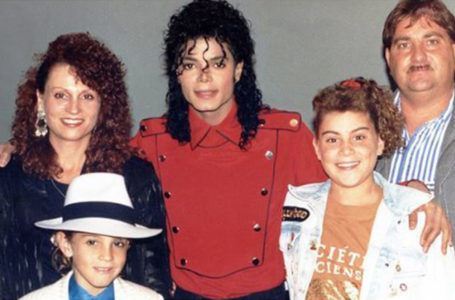 Michael Jackson with a family