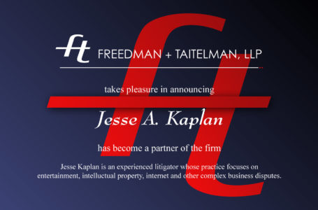 Jesse A. Kaplan partner announcement - by Rodezno Studios (www.RodeznoStudios.com)