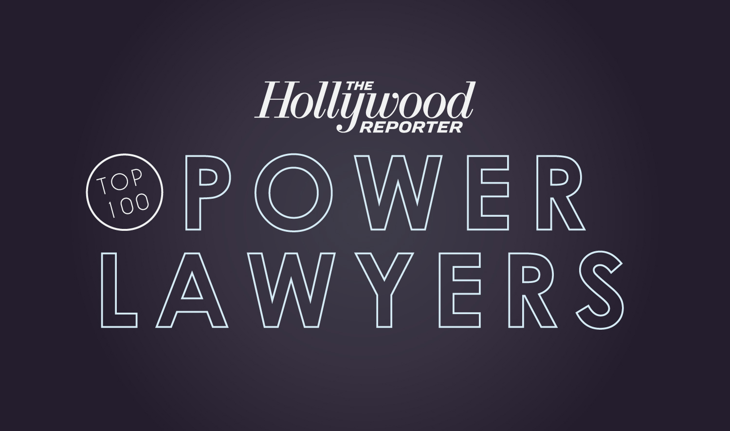 The Hollywood Reporter - Top 100 - Power Lawyers - graphic