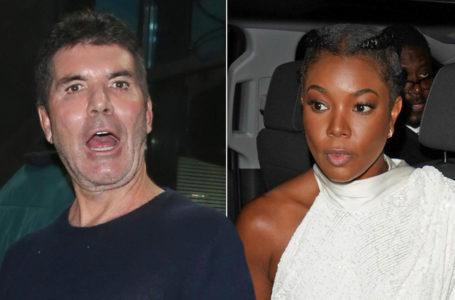 Simon Cowell and Gabrielle Union (Splash News)