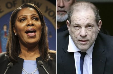Attorney General Letitia James, Harvey Weinstein. (New York Daily News)