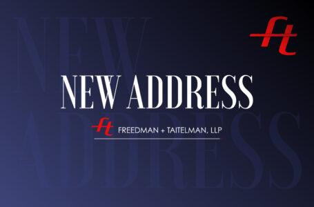 New Address Effective November 2020