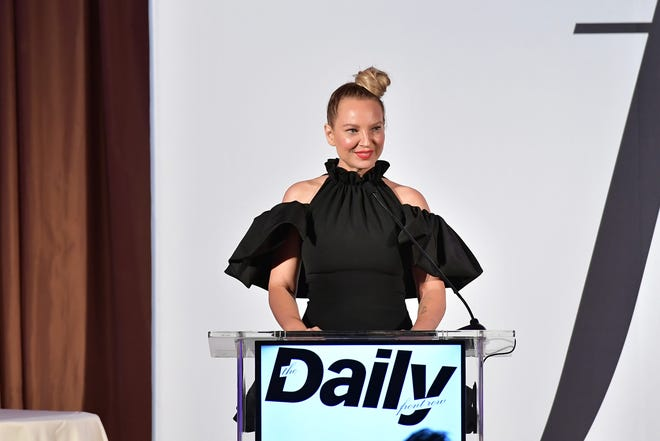 In this file photo, Sia speaks onstage duing The Daily Front Row Fashion LA Awards 2019 on March 17, 2019 in Los Angeles, California. (Credit: Neilson Barnard, Getty Images For Daily Front Row)
