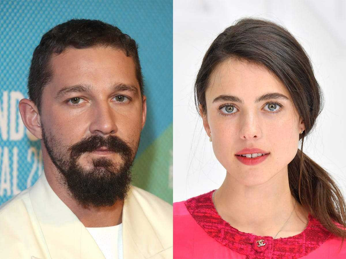 Shia LaBeouf and Margaret Qualley reportedly began dating in fall 2020. (Credits: Mike Marsland / WireImage and Stephane Cardinale / Corbis via Getty Images)