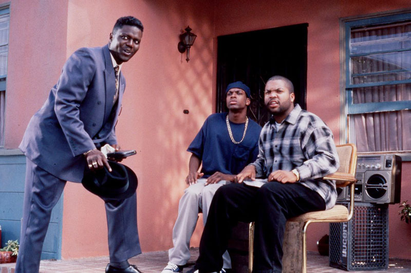 From left: Bernie Mac, Chris Tucker and Ice Cube in 'Friday' in 1995. (PHOTO: NEW LINE CINEMA/EVERETT COLLECTION)